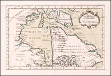 Baye de Hudson et Pays Voisins 1763 By Jacques Nicolas Bellin