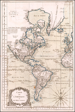 America Map By Jacques Nicolas Bellin