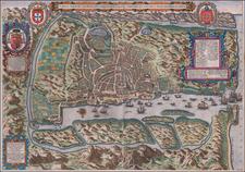 Map By Jan Huygen van  Linschoten