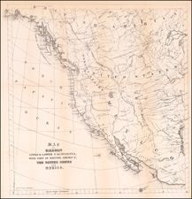 Texas, Southwest, Rocky Mountains, Baja California and California Map By Thomas Sinclair