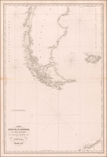 Polar Maps, Argentina and Chile Map By Aime Robiquet