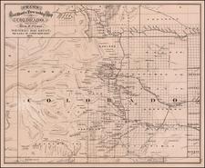 Colorado and Colorado Map By George F. Cram
