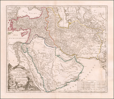 Middle East, Holy Land and Turkey & Asia Minor Map By Didier Robert de Vaugondy