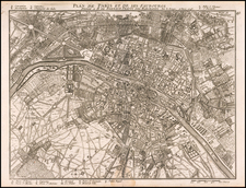 Paris Map By Georges Louis Le Rouge