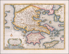 Greece Map By Gerhard Mercator