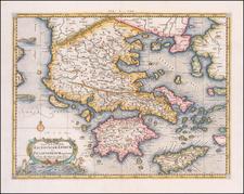 Greece Map By Gerhard Mercator