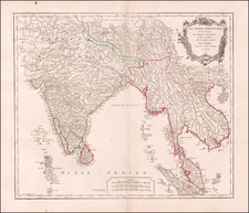 India & Sri Lanka, Southeast Asia, Malaysia and Thailand Map By Gilles Robert de Vaugondy
