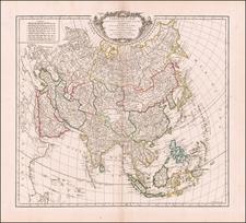 Asia Map By Gilles Robert de Vaugondy