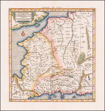 Netherlands, Belgium, France and Germany Map By  Gerard Mercator