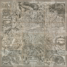 Austria Map By Melchior Kusell / George Matthäus Vischer