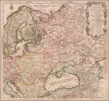 Poland, Russia, Ukraine and Baltic Countries Map By Nicolas de Fer