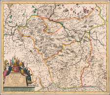 Poland Map By Cornelis II Danckerts
