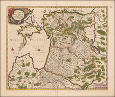 Baltic Countries Map By Frederick De Wit