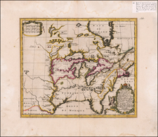 United States, South, Midwest and North America Map By Louis de Hennepin / Philip Gottfried Saurmans