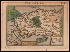 Turkey & Asia Minor Map By Petrus Bertius