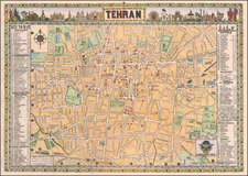 Persia Map By Sahab Geographic & Drafting Institute