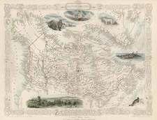 World, Polar Maps, Alaska, South America, America and Canada Map By John Tallis