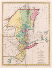 New England, New York State, Mid-Atlantic, American Revolution and Canada Map By Mathais Albrecht Lotter