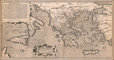 Greece, Turkey, Mediterranean, Sicily and Turkey & Asia Minor Map By George Achatz von Enenckel