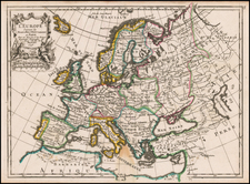 Europe Map By George Louis Le Rouge
