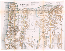 Oregon Map By General Land Office