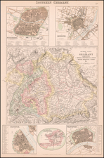 Germany Map By Archibald Fullarton & Co.