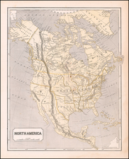 Texas and North America Map By Sidney Morse  &  Samuel Breese