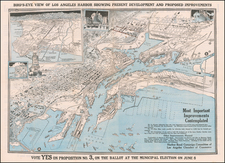Los Angeles Map By Los Angeles Chamber of Commerce. Harbor Bond Campa