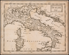Italy Map By Sir Jonas Moore