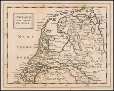 Netherlands Map By Sir Jonas Moore