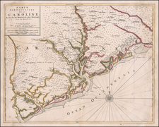 Southeast and South Carolina Map By Cornelis Mortier