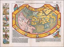 Secunda etas mundi  (World Map Before Discovery of America) By Hartmann Schedel