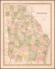 Georgia Map By Thomas Gamaliel Bradford