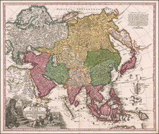 Asia Map By Johann Christoph Homann