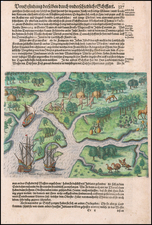 Southeast and South Carolina Map By Theodor De Bry