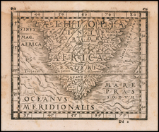Portugal, European Islands, South Africa and African Islands, including Madagascar Map By Johann Honter