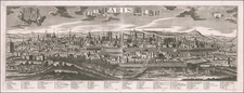 Paris Map By Georg Balthasar Probst