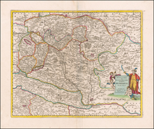 Hungary Map By Justus Danckerts