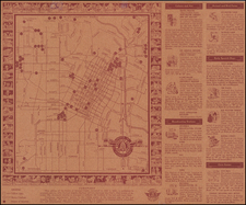 Los Angeles Map By W. R. Main