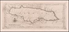 Jamaica Map By Gerard Hulst Van Keulen