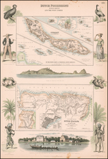 Caribbean and Guianas & Suriname Map By Archibald Fullarton & Co.