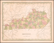 Kentucky Map By Thomas Gamaliel Bradford