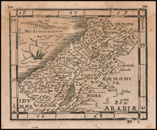 Cyprus and Holy Land Map By Johann Honter