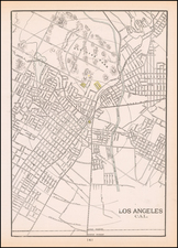 Los Angeles Map By George F. Cram