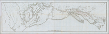 New England, Connecticut, New York State, Mid-Atlantic, New Jersey, Pennsylvania, Maryland, Southeast and Virginia Map By Henri Soules