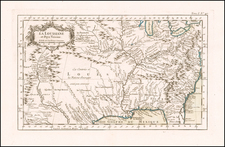 South, Southeast, Midwest and Plains Map By Jacques Nicolas Bellin