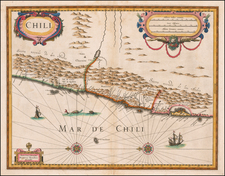Chile Map By Henricus Hondius