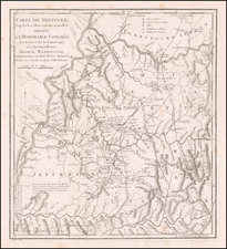 South, Kentucky, Midwest and Rare Books Map By John Filson