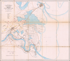 China Map By British Admiralty / Topographical Depot, War Office