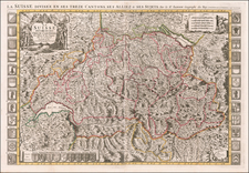 Switzerland Map By Alexis-Hubert Jaillot / Pieter Mortier